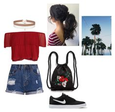 """""""summer  vibe"""" by eporima on Polyvore featuring NIKE, Miss Selfridge and Monki"""