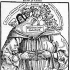 "The Catholics Strike Back Against Martin Luther, 1529, ""The Seven Heads of Martin Luther,"" an allusion to the anti-Christ. [Woodcut]"