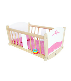 Hape Kids Wooden Pretend Play Baby Doll Stroller & Rock-A-Bye Cradle Crib Toys Wooden Cradle, Wooden Toys, Baby Play, Baby Kids, Kids Fun, Doll Toys, Baby Dolls, Baby Annabell, Baby Doll Strollers