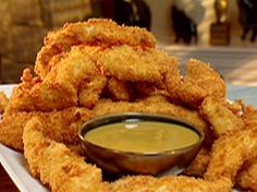 Fry Tony's Chicken Tenders recipe from Down Home with the Neelys on Food Network, then dunk each panko-crusted bite in homemade honey mustard sauce. Homemade Honey Mustard, Honey Mustard Sauce, Honey Mustard Chicken, Mustard Recipe, Honey Sauce, Food Network Recipes, Cooking Recipes, Kosher Recipes, Crockpot Recipes