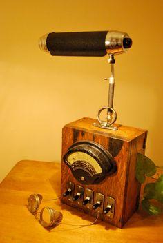 Vintage WESTON DC VOLT meter repurposed into a cool Desk lamp.