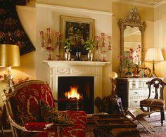 elegant sitting room in England