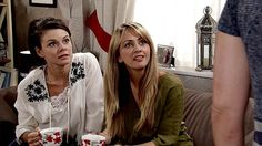 Transformation: Faye pictured, left, as Kate Connor on Coronation Street