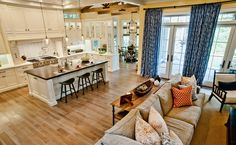 layout, rustic beams, island, flooring.  traditional kitchen by Jill Wolff Interior Design