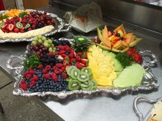 Tray of fruit/ whatever for chocolate fountain