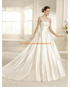 2013 klassishce Brautkleider mit langer Schleppe A-Linie online