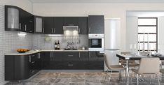Черный глянец и перламутр Kitchen Cabinets, Table, Furniture, Home Decor, Decoration Home, Room Decor, Cabinets, Tables, Home Furnishings