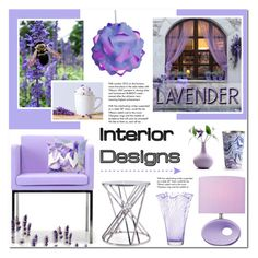 """""""Lavender Inspired Home Decor"""" by anyasdesigns ❤ liked on Polyvore featuring interior, interiors, interior design, home, home decor, interior decorating, Flamant, Lite Source, LSA International and Illume"""