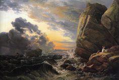 """Johan Christian Dahl """"Morning after a Stormy Night"""" 1819 (Neue Pinakothek, Munich)"""