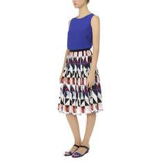 Paul Smith Women's Skirts   Hazy Triangle Print Pleated Silk Skirt