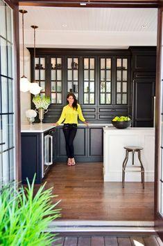 Ask an Expert: Jillian Harris - The Interior Collective Ask An Expert: Jillian Harris Black cabinets.looks great! Decor, Furniture, Room, Black Kitchens, Interior, Home, House Interior, Home Kitchens, Interior Design