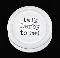 talk Derby to me! Plates Lunch - Kentucky Derby 136th Party Supplies