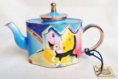 Rosina Wachtmeister cat teapot - Charlotte di Vita miniature teapot; nivagcollectables.co.uk