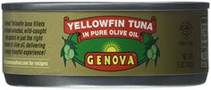 Genova Yellowfin Tuna in Pure Olive Oil, 5-Ounce (Pack of 24)