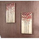 "Found it at Wayfair - 12"" x 24"" Wood Crafted Tree Wall Art - Set of 2"