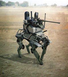Weaponized Big Dog. Well, goodbye everybody.