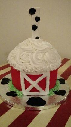 Barn smash cake