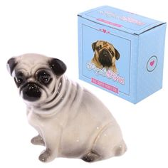 Pug Design Ceramic Money Box - Save your pennies in this cute little pug money box.