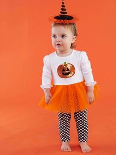 Mud Pie Baby-Girls Infant Pumpkin Tunic And Leggings - Size 2T/3T - Click image twice for more info - See a larger selection of  girls dresses with legging sets at  http://girlsdressgallery.com/product-category/girls-dress-with-legging-sets/ - kids, little girls, little girls fashion, toddler, little girls casual clothes, kids dresses, kids play wear dresses, kids casual wear, everyday dresses