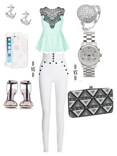 """""""90 Degrees"""" by danivsdaniella on Polyvore featuring City Chic, FOSSIL, Konstantina Tzovolou, Isabel Marant, Sonix, Bling Jewelry, maurices and Michael Kors"""