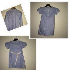 En herrskjorta blir klänning med puffärm till 3-åring! Upcycle, Raincoat, Shirt Dress, Jackets, Shirts, Dresses, Fashion, Rain Jacket, Down Jackets