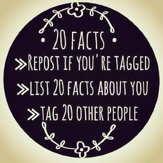20 facts about me huh? Well let's get to it! I was tagged by the lovely @shadowfaerycreations and the gorgeous @poenut35 . 1.) My full first name is Mary Spotted Eagle Woman 2.) I am Native Creole (french native Black) Hawaiian Scottish Irish Udmurt (Natives of Russia) 3.) I am in a long distance relationship that breaks the rules of conventional dating (cuz i'mma rebel with my love!!!) 4.) I find it hard to have a real interest in any dude just because of his looks so i search for…