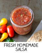 Followed this recipe (roughly) and it was delicious! Fresh Homemade Salsa | Kim's Healthy Eats