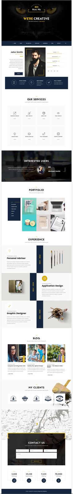 Savannah vCard WordPress Themes Pinterest - wordpress resume template