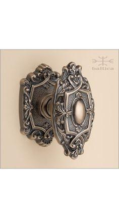 Aurelia door knob & rose 71mm | antique bronze | Custom Door Hardware
