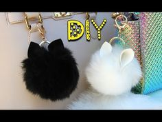 DIY Animal Pom Pom Keychains || Lucykiins - YouTube