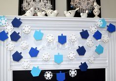 DIY Hanukkah Decorations by Dollar Store - The organized mom, Decorations .DIY Hanukkah Decorations from Dollar Store - The organized mom, Dekoration diy diyhomed .: DIY Hanukkah Decorations from Dollar Store - The or Hanukkah Crafts, Feliz Hanukkah, Hanukkah Decorations, Christmas Hanukkah, Happy Hanukkah, Hannukah, Jewish Hanukkah, Winter Decorations, Holiday Parties