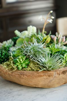 Add some succulents to your space! http://www.stylemepretty.com/living/2015/09/15/trending-home-decor-colors-for-fall/