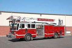 Scullville Volunteer Fire Company, Egg Harbor Township, NJ - 1998 KME 75' Quint #ladder #vertical #EggHarbor #fire #setcom #aerial http://setcomcorp.com/firewireless.html