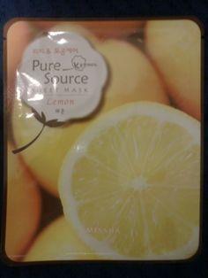 Missha: Pure Source Sheet Mask Lemon
