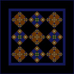 ~free~ quilt pattern, Miniature Amish Style Double Nine-Patch Quilt by Janet Wickell
