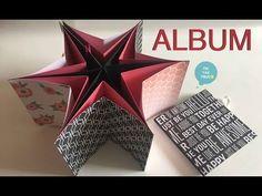 Álbum de scrap en forma de estrella   Tic-Tac Truco