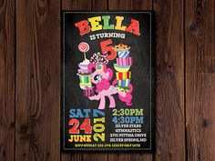My Little Pony Invitation My Little Pony Rainbow Invitation