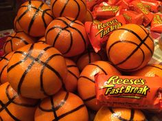 An easy treat for the basketball team! Great for birthday parties too. Healthy and fun!