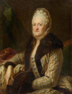 1770s - Princess Maria Kunigunde of Saxony and Poland (1740-1826) by Anton Graff