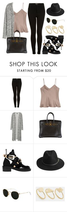 """Sin título #12411"" by vany-alvarado ❤ liked on Polyvore featuring Topshop, Etro, H&M, Hermès, Balenciaga, BeckSöndergaard, Ray-Ban and Made"