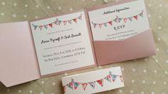 Hey, I found this really awesome Etsy listing at https://www.etsy.com/au/listing/269211314/vintage-bunting-pocketfold-wedding