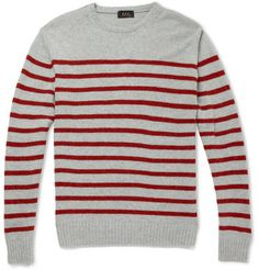 A.P.C. Striped Camel Sweater | MR PORTER