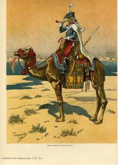 Bonaparte en Egypte à dromadaire