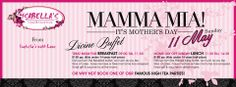 Mamma Mia!  It is nearly time to #celebrate the women that we love most of all, our #Mom's!  Have you booked at your favourite #Isabella's yet?  #MothersDay #Magic #Cake