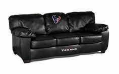 Cincinnati Bengals NFL Leather Classic Couch is a Leather Couch. Grab some of your favorite friends and enjoy the game on your Cincinnati Bengals couch. Black Leather Sofas, Bonded Leather, Classic Sofa, Classic Leather, Overstuffed Couch, Leather Pillow, Cincinnati Bengals, Pittsburgh Steelers, Dallas Cowboys