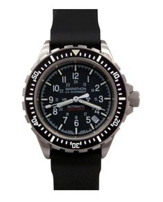 The Marathon Diver's Quartz is a diver's watch with a high torque, accurate swiss quartz movement. Designed for use by Search and Rescue (SAR) divers and manufactured under ISO 6425 standards, the Diver's Quartz is a w Sport Watches, Watches For Men, Wrist Watches, Marathon Watch, Edc Everyday Carry, Automatic Watch, Stainless Steel Bracelet, Casio Watch, Quartz Watch