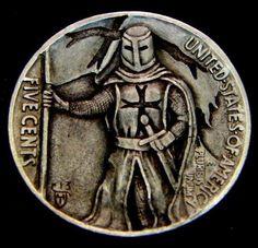 """""""The Knight's Templar"""" 2 Sided Mini Man Reverse by Howard Thomas"""