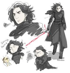Kylo Ren fanart from Star Wars Episode VII The Force Awakens
