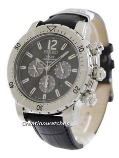 Seiko Solar Chronograph Mens Analog Casual Black Band for sale online Seiko Solar, Michael Kors Watch, Chronograph, Watches For Men, Accessories, Men's Watches, Watches Michael Kors, Jewelry Accessories