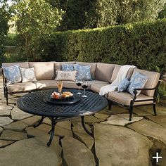 Carlisle Modular Seating In Onyx Finish. Outside FurnitureOutdoor Furniture  SetsFine ...